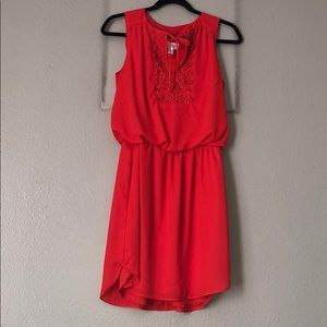 Bisou Bisou Coral Dress
